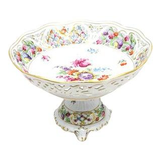 Royal Dresden Schumann Pedestal Compote Dish
