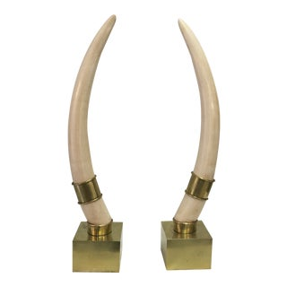 Chapman Brass Accent Faux Tusks - A Pair