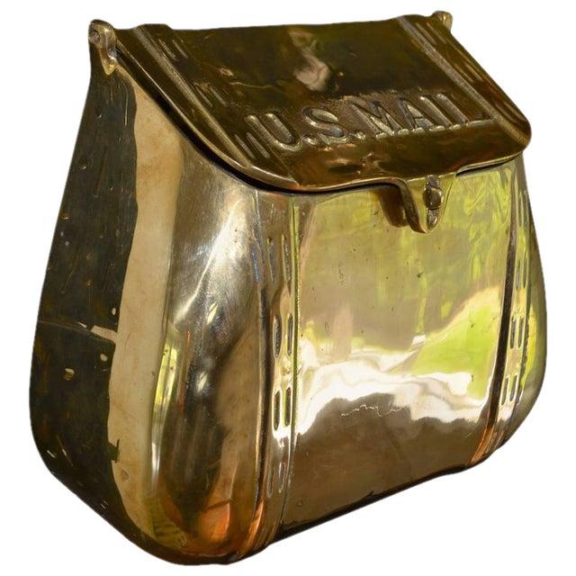 Antique Saddlebag Vintage Solid Brass Mail Box Mailbox For Sale