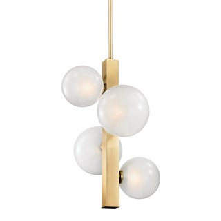 Hinsdale 4 Light Pendant - Aged Brass Preview