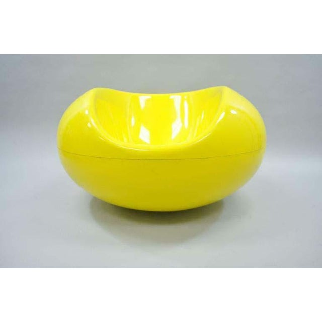 1960s Vintage Eero Aarnio for Asko Yellow Fiberglass Pastille Pod Gyro Lounge Chair For Sale - Image 11 of 11