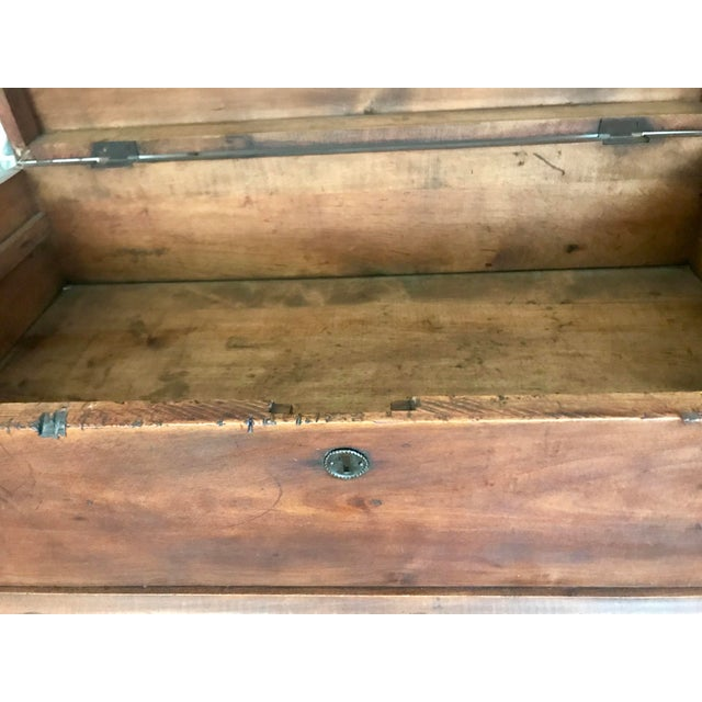 19th Century Americana Wood Trunk-Chest with Handle For Sale - Image 6 of 10