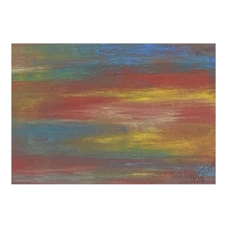 Abstract Red Horizon Painting by Suga Lane For Sale
