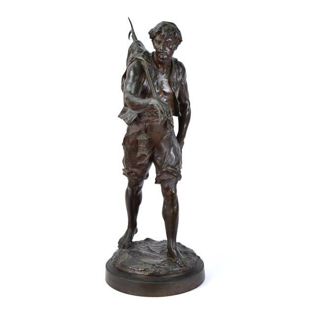 """The Whaler"" Antique Emile Louis Picault French Bronze Sculpture For Sale - Image 9 of 9"