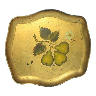Antique Florentine Tray For Sale