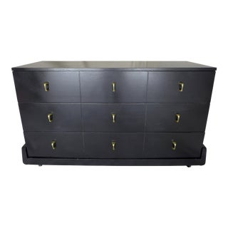 Mid-Century Dark Gray Dresser For Sale