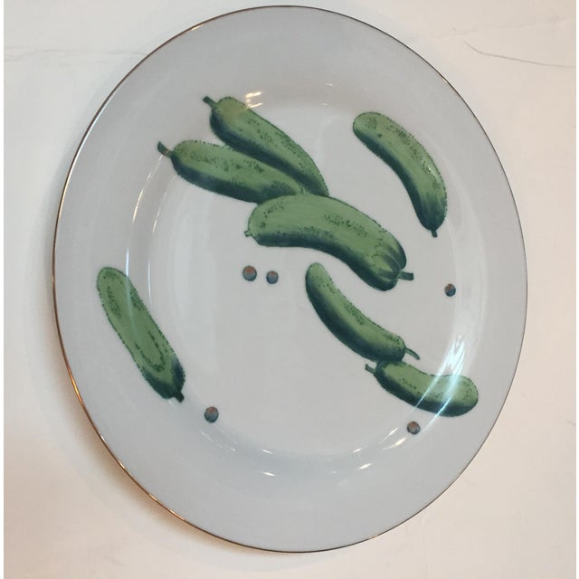 Chelsea House Inc Chelsea House Gold Rim Vegetable Plates - Set of 6 For Sale - Image 4 of 10