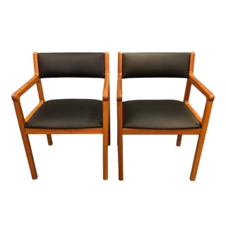 Mid Century Danis Teak Dining Chairs- A Pair For Sale
