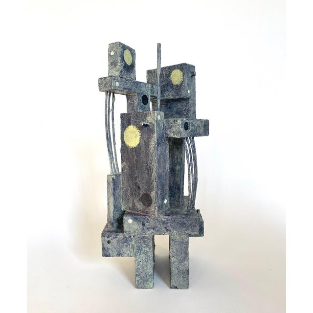 Abstract Mid-Century Modernist / Cubist Sculpture For Sale - Image 3 of 6
