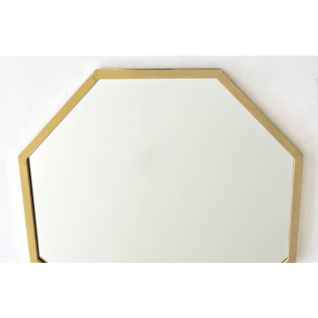 Mid 20th Century Italian Octagonal Brass Framed Mirror For Sale - Image 5 of 7