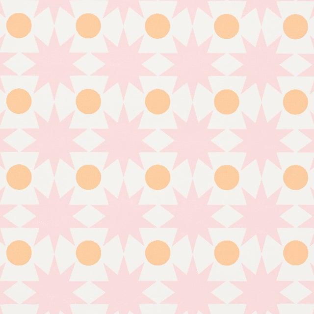 Schumacher Cosmos Wallpaper in Pink For Sale