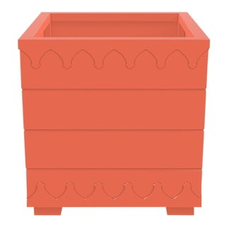 Ocean Drive Outdoor Planter Large, Orange For Sale