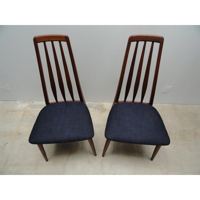 Danish Modern Eva Dining Chairs by Koefoeds Hornslet - Set of 4 - Image 5 of 10