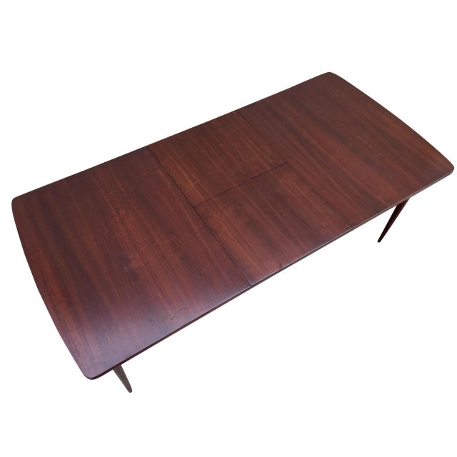 Mid-Century Expandable Walnut Dining Table - Image 1 of 11