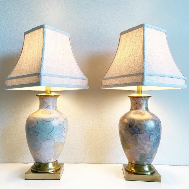 Mid-Century Modern 1960s Frederick Cooper Lamps & Shades - a Pair For Sale - Image 3 of 9