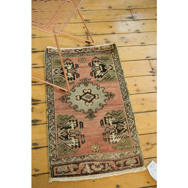"Vintage Turkish Oushak Mat - 1'9"" x 2'10"" - Image 3 of 7"