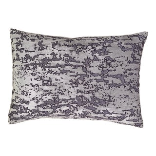 Contemporary Distressed Velvet Pillow For Sale