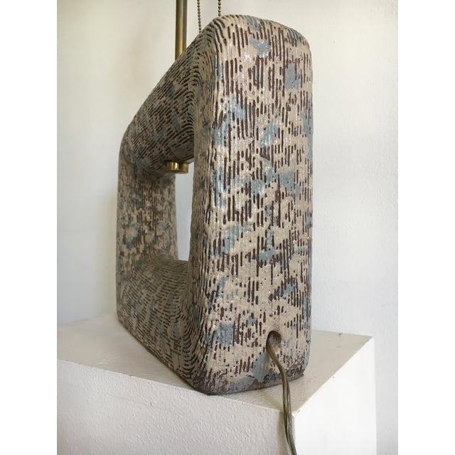 Rita Sargen Mid-Century Modern Ceramic Lamp For Sale In Los Angeles - Image 6 of 13