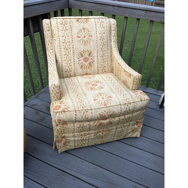 Americana Clyde Pearson Vintage Swivel Chair For Sale - Image 3 of 11
