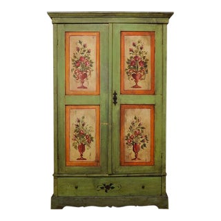1930s Vintage Hand Painted Hungarian Cabinet For Sale