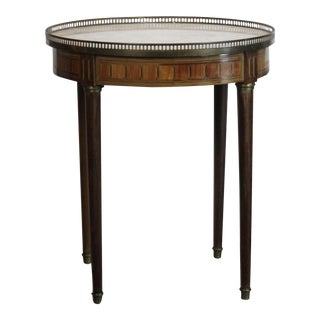French Marble Top Bouillotte Table For Sale