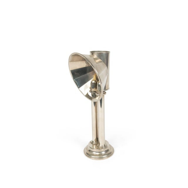 Mid 20th Century English Victorian Silver Plated Student Lamps, Pair For Sale - Image 5 of 9