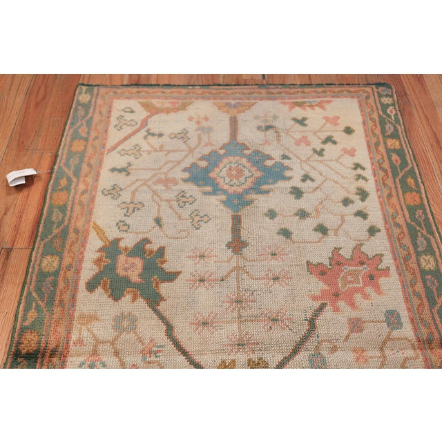 Antique Decorative Turkish Oushak Rug - 3′7″ × 6′7″ For Sale - Image 9 of 11