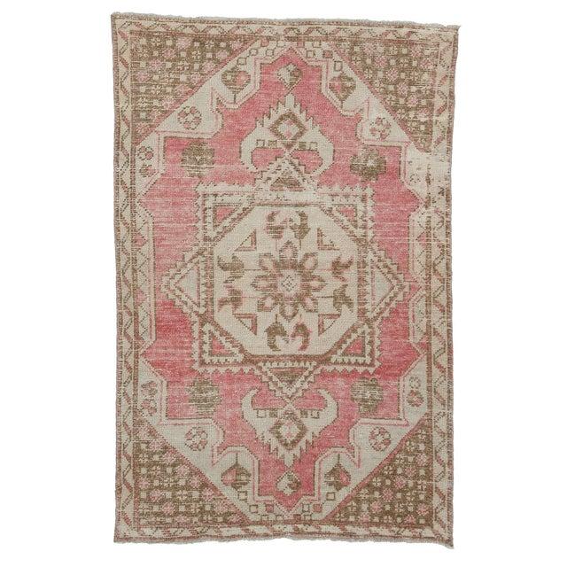 Textile Vintage Turkish Konya Rug-3′8″ × 5′8″ For Sale - Image 7 of 7