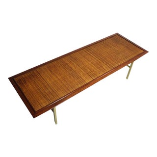 "Kipp Stewart & Stewart McDougall for Drexel ""Sun Coast"" Brass Coffee Table For Sale"