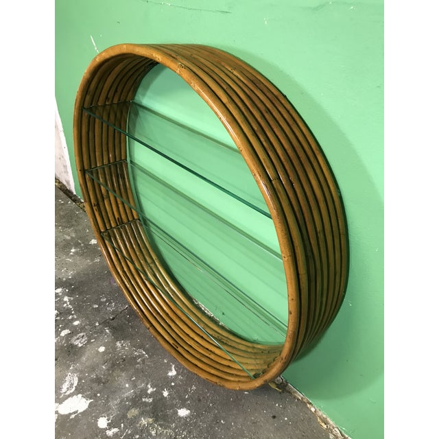 1950s Vintage Mid-Century Paul Frankl Eight Strand Rattan Circular Wall Hanging For Sale - Image 5 of 12