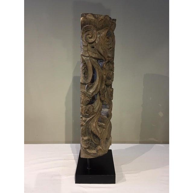 1990s 1990s Floral Totem Sculpture For Sale - Image 5 of 8