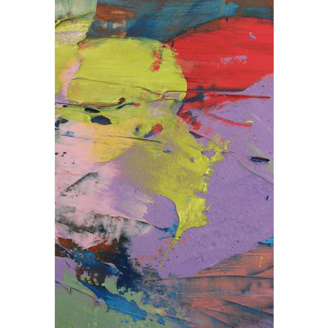 1990s Francine Tint Untitled Oil Painting For Sale - Image 5 of 6