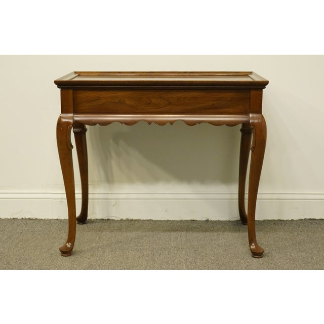 Late 20th Century 20th Century Georgian Ethan Allen Accent End / Tea Table For Sale - Image 5 of 13