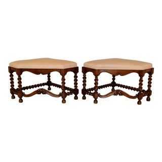 19th Century Pair of French Fireside Benches For Sale