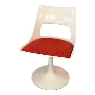 Mid Century Modern Krueger Swivel Desk Chair With Tulip Base For Sale