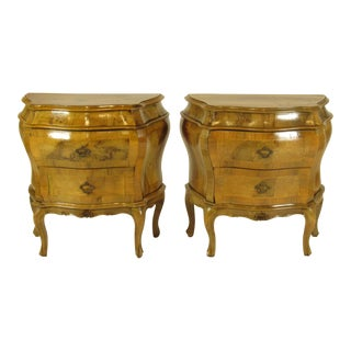 20th Century Italian Bombe Wooden Chests - a Pair For Sale
