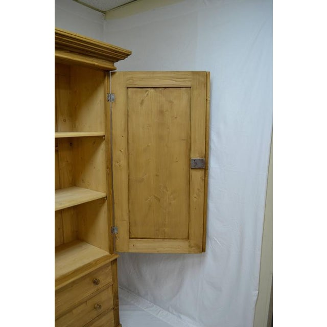 Tan Pine Linen Press For Sale - Image 8 of 10