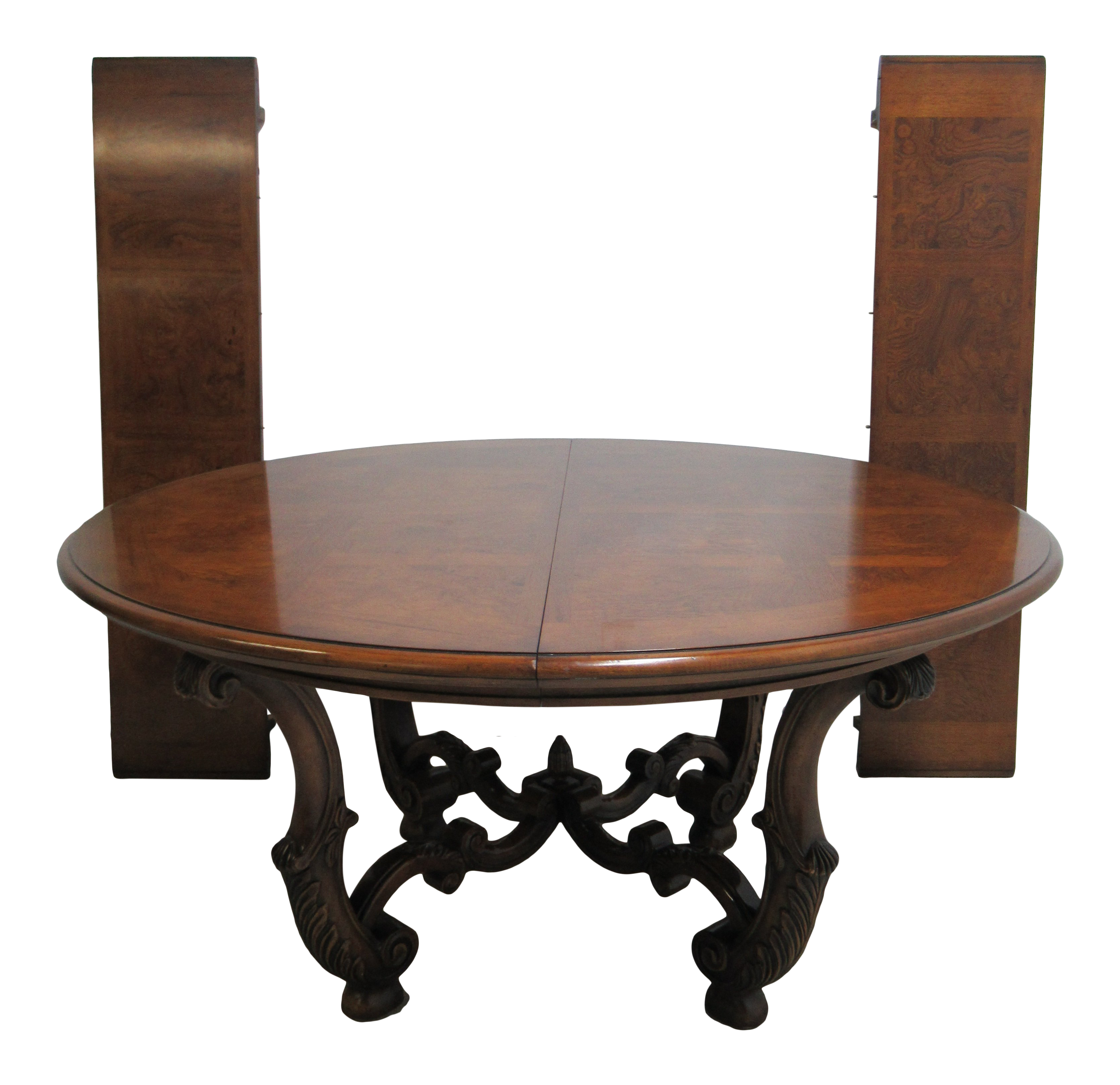 Henredon French Empire Round Pedestal Base Dining Room Banquet Table For  Sale
