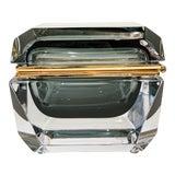 Image of Murano Smoke Mandruzzato Glass Box For Sale