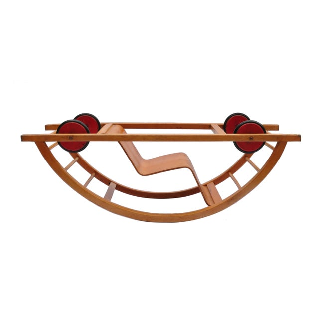 Mid-Century Modern Child Swing Cart, Germany, 1956 For Sale - Image 3 of 6