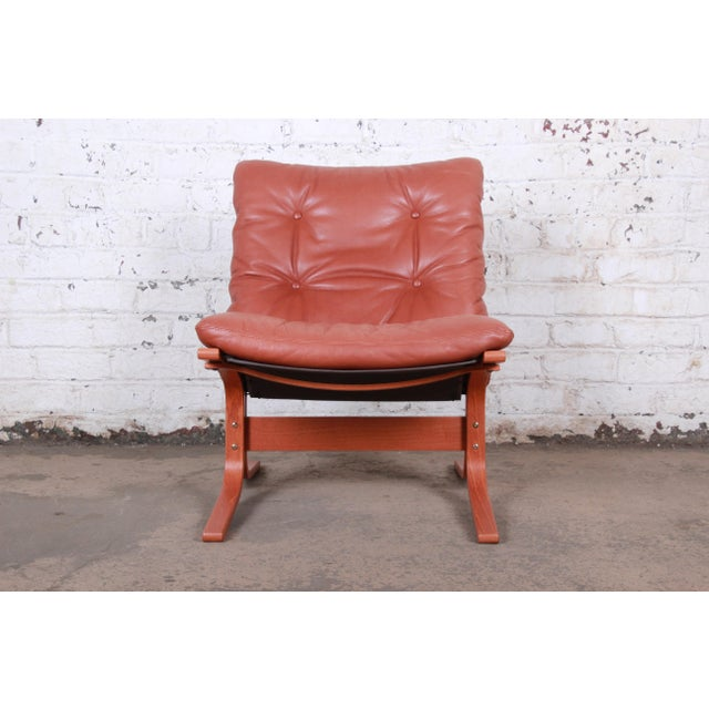 Brown Ingmar Relling for Westnofa Bentwood Teak and Leather Siesta Lounge Chair and Ottoman For Sale - Image 8 of 13