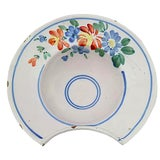Image of Antique French Faience Shaving Bowl For Sale