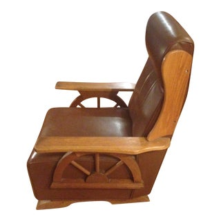 Wagon Wheel Rocking Chair For Sale