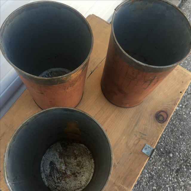 Antique Red Maple Syrup Sap Buckets - Set of 2 - Image 5 of 10