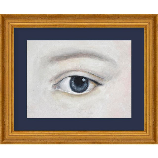 "Contemporary Small ""Lover's Eye 5 With Charcoal"" Print by Susannah Carson, 12"" X 10"" For Sale - Image 3 of 3"