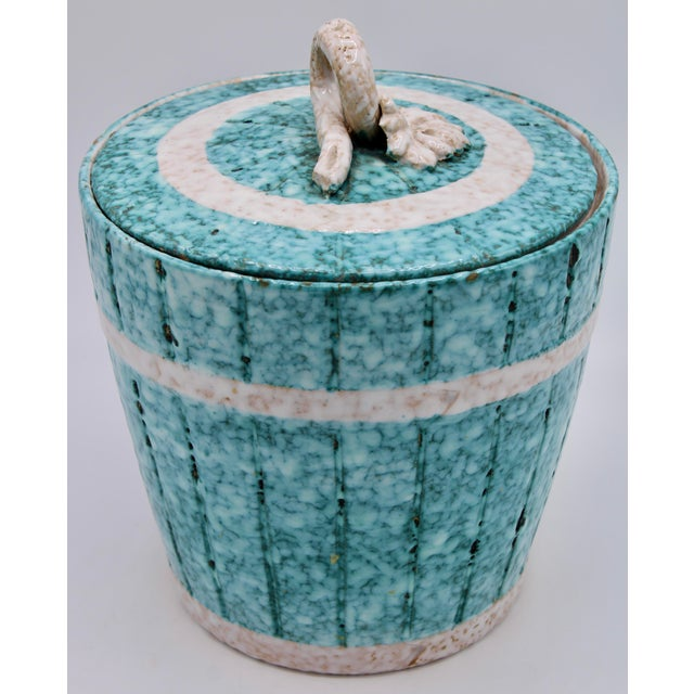 Mid 20th Century Mid Century Italian Terra Cotta Champagne Ice Bucket by Fratelli Fanciullacci For Sale - Image 5 of 13