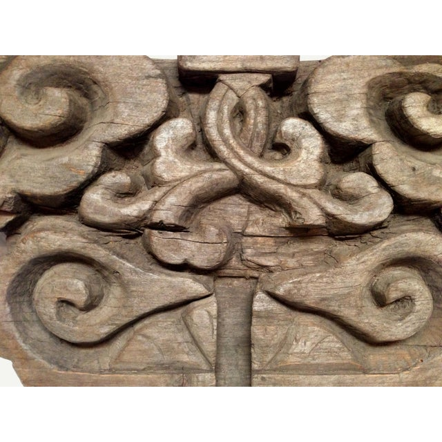 """This Magnificent double sided wood block was carved in the shape of the Chinese symbol """"Ru Yi"""". Such a motif is believed..."""