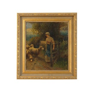 19th Century French Oil on Board, Signed Pezant Aymar Alexandre (1846-1916) For Sale