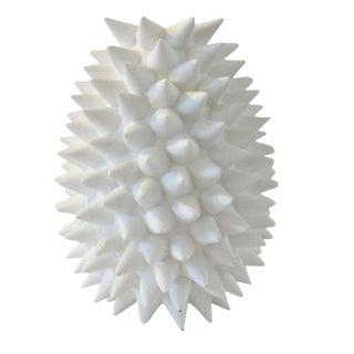Contemporary White Urchin Vase