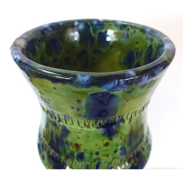 Mid-Century Modern Glazed Ceramic Vase by Gary Fonseca For Sale - Image 3 of 10